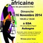 affiche stage danse de danse africaine Mândihy 16 nov à EDA Aubagne